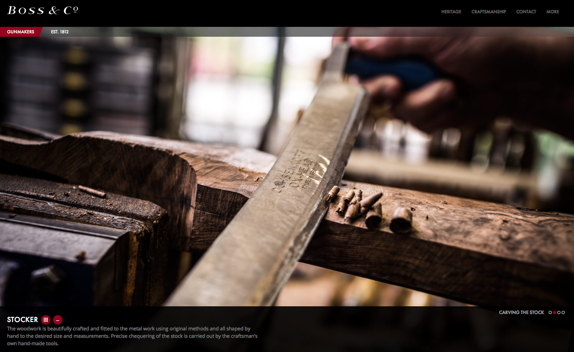 Boss Shotgun Makers Process - London UK